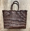 Basket B-weave big DARK BROWN - Dragon Bags