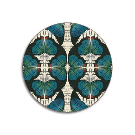 Dessous de verre WILDLIFE Blue Butterfly BY PATCH NYC.