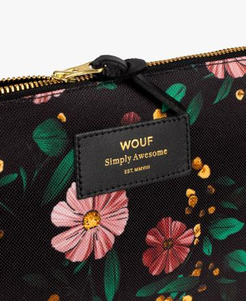 Pochette X-large Black flowers - Wouf