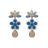 Aurora earrings - Sapphire - Lily & Rose