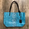 Sac Gouverneur S - Croco Turquoise