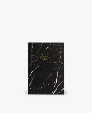 Carnet A5 Black marble - Wouf